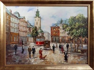 Картина «Львов. Прогулка солнечным днем»