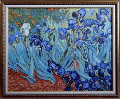 Картина «Ирисы», копия картины Ван Гога