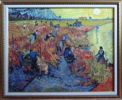 Картина «Красные виноградники в Арле», копия картины Ван Гога