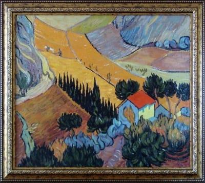Картина «Пейзаж с домом и пахарем», копия картины Ван Гога