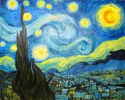 Картина «Звездная ночь», копия картины Ван Гога