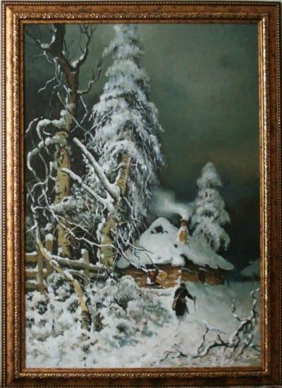 Картина «Зима», копия картины Клевер Ю.