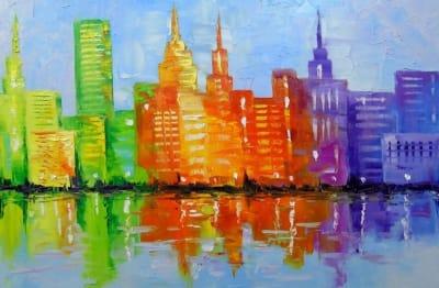 Картина «Огни вечернего мегаполиса»