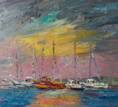 Картина «Яхты. Болгария»