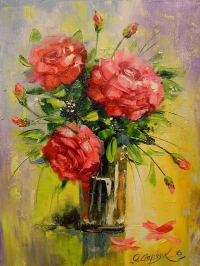 Картина «Букет красных роз»
