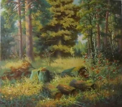 Картина «Лесная поляна»