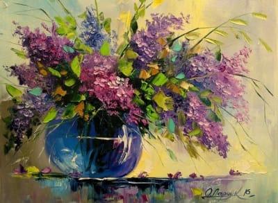Картина «Сирень в вазе»