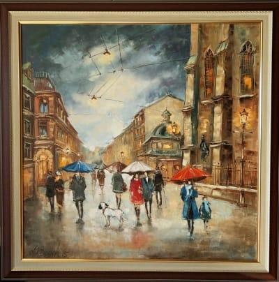 Картина «Музыка дождя, она прекрасна...»