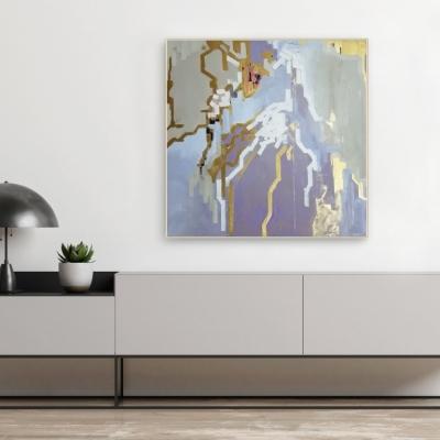 Картина абстракция оригинал «Чистое напоминание» для дизайна современных интерьеров