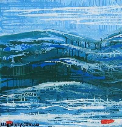 Абстрактная картина пейзаж «Карпаты»