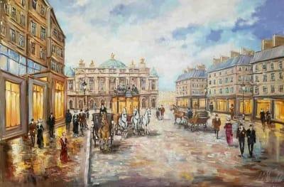 Картина «Как прекрасен вечерний город»