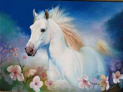 Картина «Лошадь в цветах»