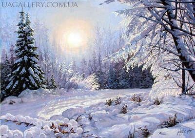 Картина «Зимнее утро»