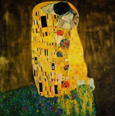 Картина «Поцелуй» копия - Густав Климт