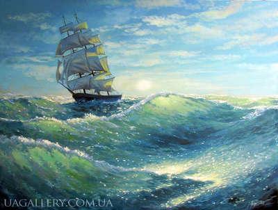 Картина морской пейзаж Шторм на море