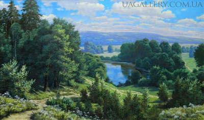 Картина пейзаж Величие Карпат