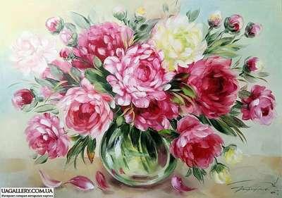 Картина «Чарующая красота весенних пионов»