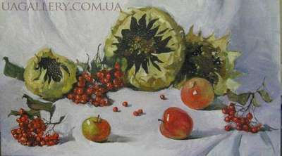 Подсолнухи и яблоки