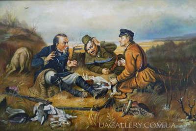 Картина «Охотники на привале» копия Перова