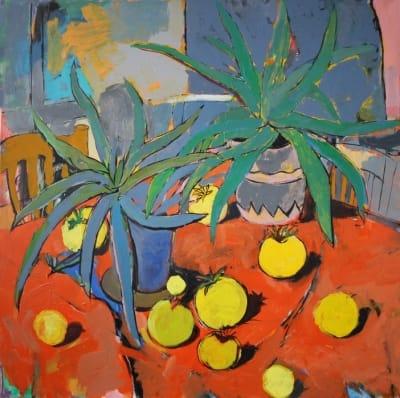 Картина для современных интерьеров абстракция «Алоэ» купить живопись Украина
