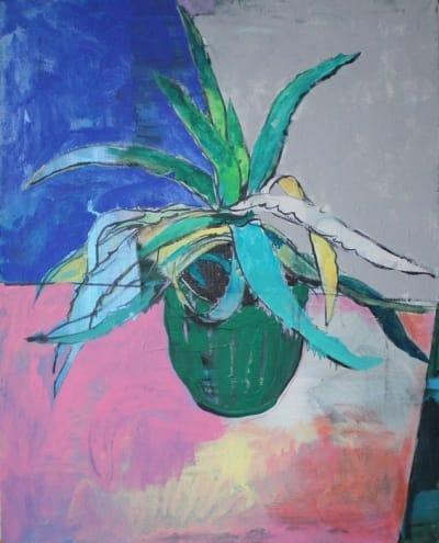 Картина для современных интерьеров натюрморт «Кактус» купить живопись Киев