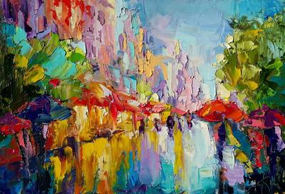 Картина «Городские огни»