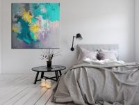 Картина абстракция для современного интерьера «Colors» купить живопись Киев