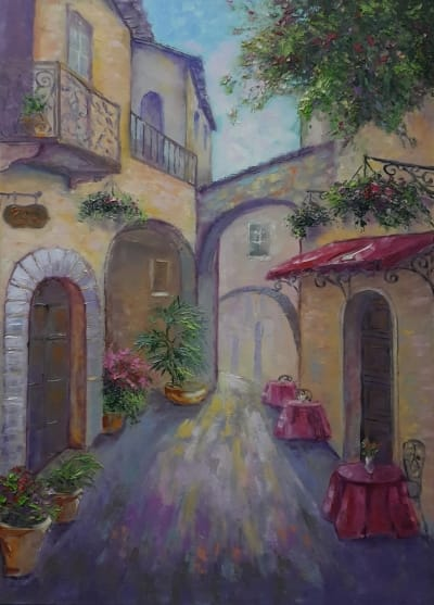 Картина «Уютная улочка»