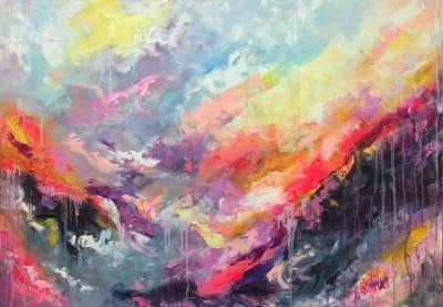 Картина маслом абстракция «Цветная эмоция» - современная живопись Украина