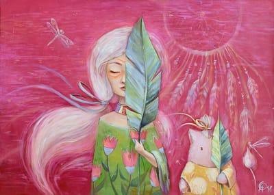 Картина для детской комнаты «Цветы среди нас» купить картину маслом Киев