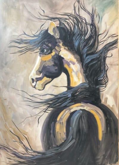 Картина «Дикая лошадь» 2