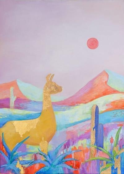 Картина пейзаж детям «Дорога Атакамы. Чили» купить картину маслом Киев