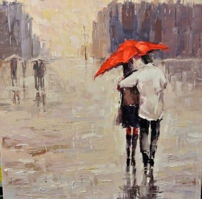 Картина «Двое под зонтом»