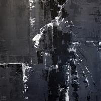 Картина акрил абстракция «Дзен» живопись для современных интерьеров Украина