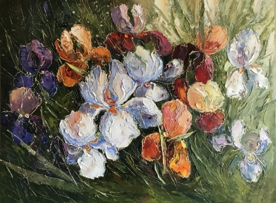 Картина маслом цветы «Фанданго» купить живопись Украина