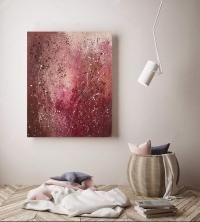 Картина акрил абстракция «Цветущий луг» - купить живопись для современных интерьеров Украина