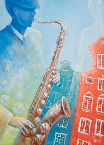 Картина для детской комнаты «Гданьск. Лето. Джаз» купить картину маслом Киев