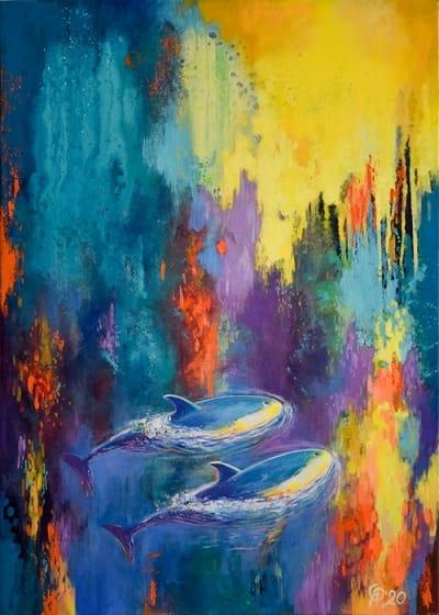 Картина пейзаж море «Где-то среди бесконечности» купить картину маслом Киев