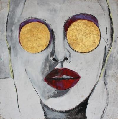 Картина для современных интерьеров серия «Glassed Madonna 1» купить живопись Киев