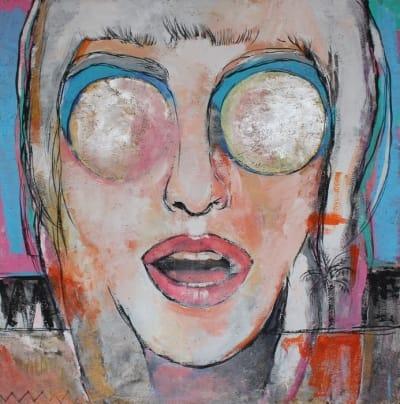 Картина для современных интерьеров серия «Glassed Madonna 2» купить живопись Киев
