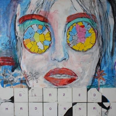 Картина для современных интерьеров абстракция «Glassed Madonnas. Persons» купить живопись Киев
