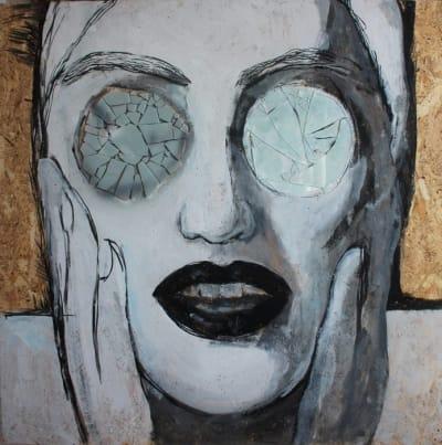 Картина для современных интерьеров серия «Glassed Madonna 5» купить живопись Киев