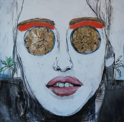 Картина для современных интерьеров серия «Glassed Madonna 6» купить живопись Киев