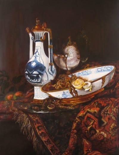 Картина «Голландский натюрморт с кувшином» копия Виллема Кальфа