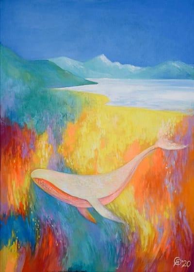 Картина пейзаж «Гора Кука. Дорога. Кит» купить картину маслом Киев