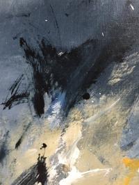 Картина абстракция «Ночной луг» купить живопись для современных интерьеров Украина