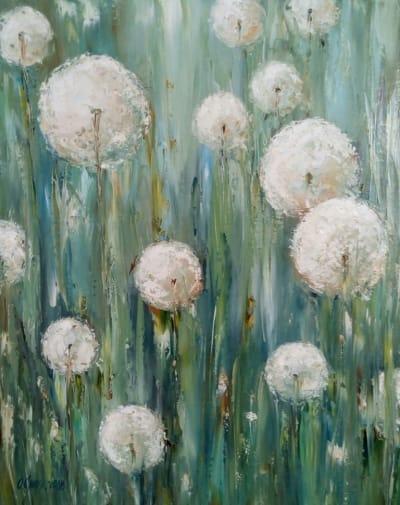 Картина «Летнее настроение» - живопись для современных интерьеров Украина - живопись цветы