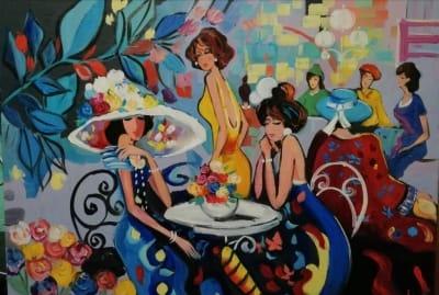 Картина «Девушки за столиком»