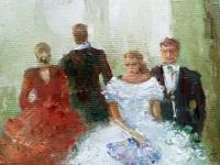 Картина маслом «На балу» - живопись для современных интерьеров Украина