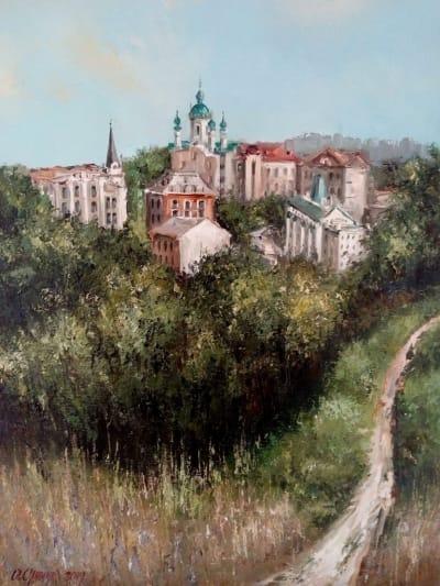 Картина маслом виды Киева «Киев. Замковая гора» купить картины для современных интерьеров Украина